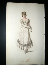Ackermann 1815 Hand Col Regency Fashion Print. Ball Dress 13-28